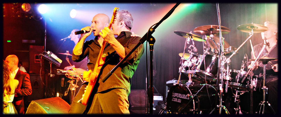 Superdudes live corporate function and event cover band in Melbourne